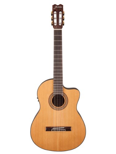 Jasmine Jc27Ce Classical Acoustic-Electric Guitar Bundle With Gig Bag, Tuner, Strap, Strings, Picks, And Polishing Cloth - Natural