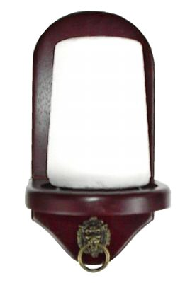 Cut Rate Wall Mount Pool Table Cone Chalk Holder Mahogany With Chalk