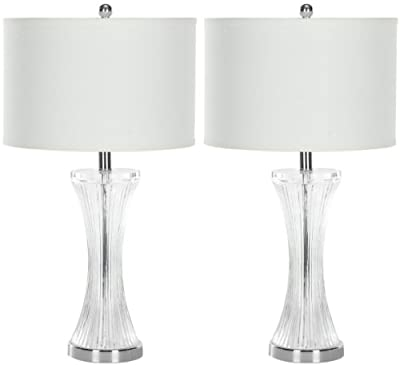 Safavieh Lighting Collection Zelda Glass 25-inch Table Lamp (Set of 2)