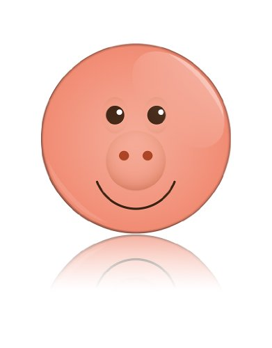 Hello Mr Pig Funny Art Button Badge Cool Retro Gift Present Baby Shower Birthday front-902701
