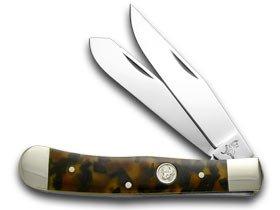 German Bull Tortoise Shell Celluloid Pocket Knife Knives