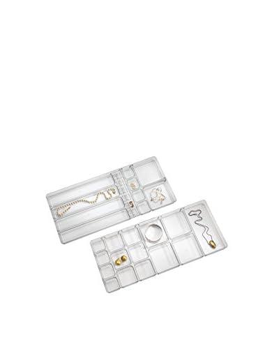 InterDesign Large Linus Jewelry Box, Clear