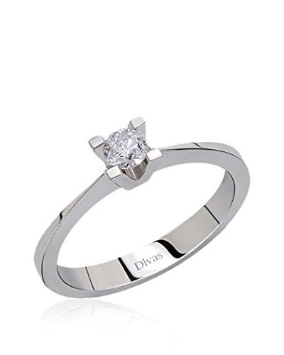 Divas Diamond Anillo 0.20 ct Diamond Solitaire Oro Blanco 17