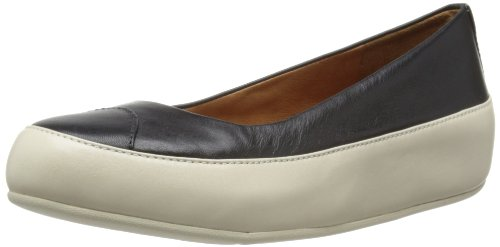 Fitflop - Ballerine, Donna, Nero (Black/White), 36