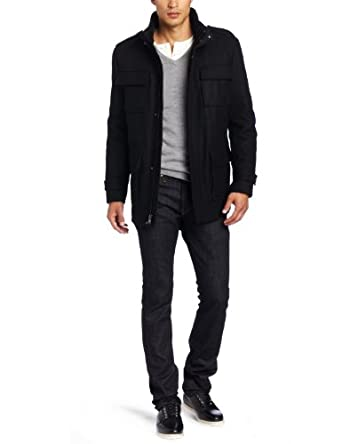 Calvin Klein Men's Field Jacket, Black, Large