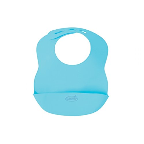 Summer Infant Bibbity Rinse and Roll Portable Bib, Blue - 1