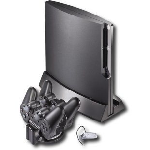 Rocketfish PS3 Slim Starter Kit for Sony Playstation 3 Slim (Bluetooth Headset, PS3 Slim Console Double Sided Stand & DualShock Controller Charge Station) (Upright Stand For Ps3 compare prices)