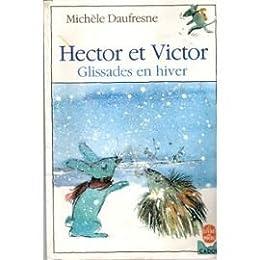 Hector et Victor, glissades en hiver