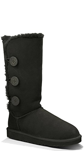 UGG Australia Women's Bailey Button Triplet Sheepskin Fashion Boot Black 6 M US