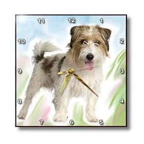 Rough Jack Russell Terrier Wall Clock