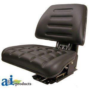 A & I Products Seat w/ Trapezoid Backrest, BLK Replacement for Case-IH Part Number T222BL