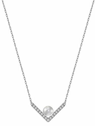Swarovski Edify Halskette Edelstahl Damen-Collier rodinato cristallo trasparente 38 cm - 5213361