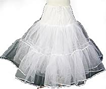 "Tanday #7717 Small Flower Girl/Child Petticoat -19"" long"
