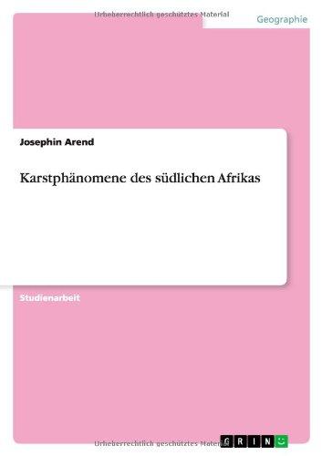 Karstphänomene des südlichen Afrikas (German Edition)