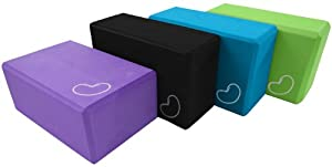 Yoga Block 1 or 2 pack 3 in. x 6 in. x 9 in. Larger Size High Quality 3 colors by Bean Products from Bean Products