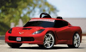 Fisher-Price Power Wheels Corvette Stingray 12-Volt Battery Powered Ride-On, Red front-615188