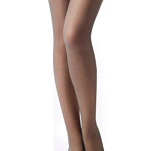 Aokdis Sexy Womens Lace Top Silicone Band Thigh High Stockings Pantyhose (Gray)