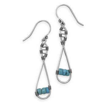 Figure 8 Design Earrings with Turquoise Heshi