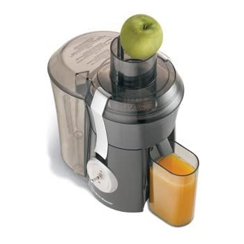 Hamilton Beach resolves the complaints of many customers tired of chopping fruits and vegetables to feed through ordinary home juicer chutes. The Big Mouth Pro Juice Extractor is designed to accept whole fruits - or at least larger pieces - for speed...