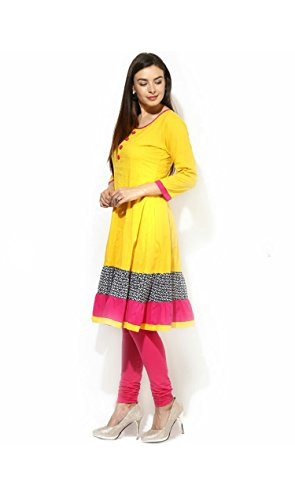 AnjuShree-Choice-Womens-yellow-Anarkali-Stitched-Cotton-Kurti