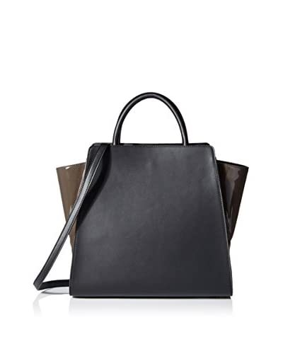 ZAC Zac Posen Women's Monochromatic Eartha North/South Satchel, Charcoal