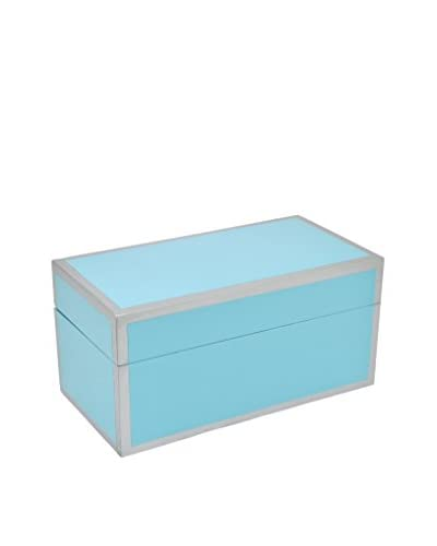 Three Hands Blue Deep Rectangle Wood Box