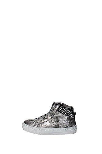 Grunland PO0417 Sneakers Bambina Pelle Sintetico Argento Argento 35