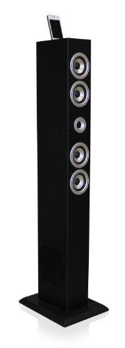 ZOGI iTOWER, Bluetooth-Stand-Lautsprecher mit iPod-/iPhone-Docking, schwarz