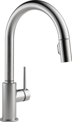Delta 9159-AR-DST Single Handle Pull-Down Kitchen Faucet, Arctic Stainless
