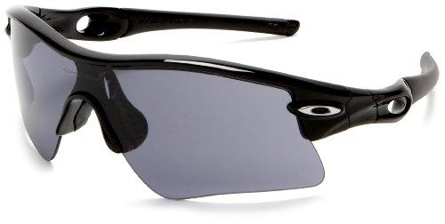 Oakley Men's Radar Range Sunglasses,Polished Black Frame/Grey Lens,one size