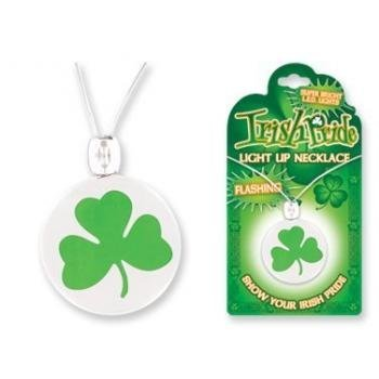 Irish Pride Light up Shamrock Necklace Styles May Vary