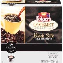Folgers Black Silk Coffee, 18 Count K-cups for Keurig Brewers