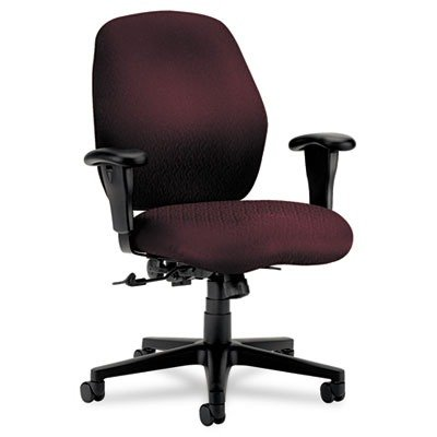 Hon Mid-Back Pneumatic Task Chair, 30-1/2 by 31-1/2 by 40-1/2-Inch, Wine