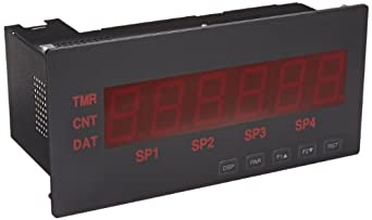 """Red Lion LPAX Large LED Segment Display for Panel Meter Modules, 6 Digits, 1.5"""" Character Size, 85-250 VAC, 50/60 Hz"""