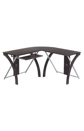 Buy Low Price Comfortable X-Text L-Shaped Computer Desk (B004OFK6RE)
