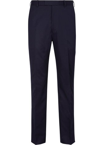 Austin Reed Contemporary Fit Navy Cotton Trousers SHORT MENS 34
