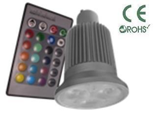 Glb Gu10 9 Watt Rgb Led Bulb Spotlight With Remote Control, 3X3Led Multi Color 16 Color Choices