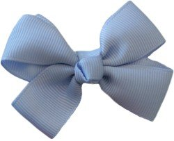 Posies Accessories Bitty (small) Grosgrain Hair Bow (Bluebird)