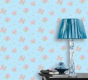 Coloroll Pippa Wallpaper - Sky Blue and Pink by New A-Brend