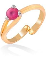 Jewelscart Fancy Rings For Girls ,Women Gold Plated In Ruby American Diamond Cz Jewellery