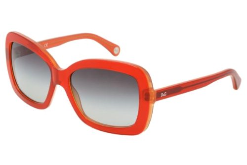 D&g By Dolce & Gabbana Women's 3047 Red Fluo Frame/Grey Gradient Lens Plastic Sunglasses