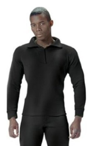 6209 G.I. BLACK EXTREME COLD WEATHER POLYPROPYLENE UNDERWEAR (4 XL, TOP) (Rothco Extreme Thermals compare prices)
