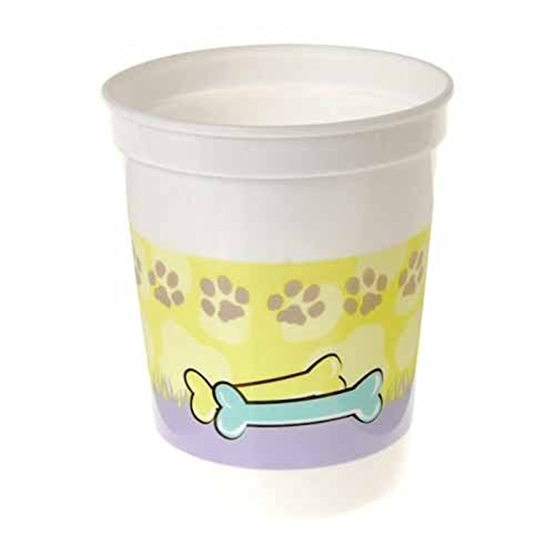 Dozen 12oz Plastic Paw Print Theme Party Cups