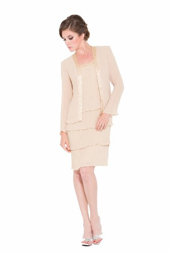 Short, Layered Mother Of The Bride Dress 5015Nx-Gold-L