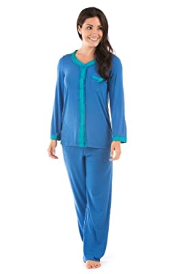 Womens Luxury Pajamas Set (Eco Nirvana); Perfect Bliss in Bamboo Viscose; Texere
