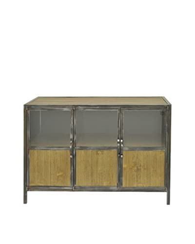 Three Hands 3-Door Cabinet, Brown