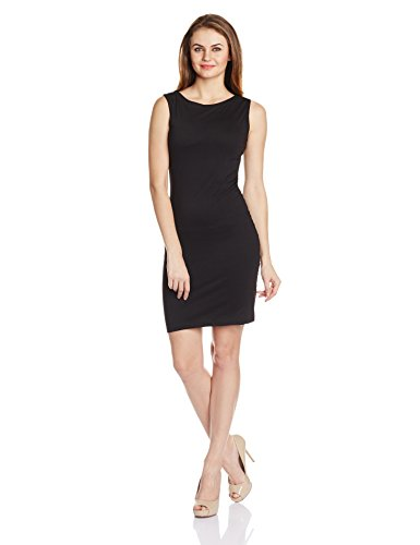 Miss Chase Women's Cotton Pencil Dress (MCS14D02-30-62_Black_X-Small)