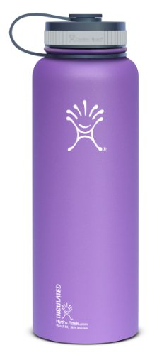 Hydro Flask Insulated Stainless Steel Water Bottle, Acai Purple, 40-Ounce front-561410