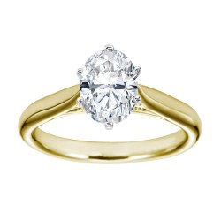 1.09 Carat GIA Certified Oval Cut Solitaire Diamond Engagement Ring