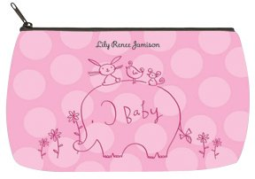 Checks In The Mail - Girl Elephant & Friends Baby Bag - Small